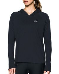 Under Armour - Charged Cotton Tri-blend Hooded Long Sleeve Shirt - Lyst