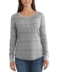 Carhartt - Meadow Printed Waffle Knit Henley Long Sleeve Shirt - Lyst