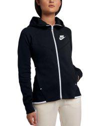 da37285d97b3 Lyst - Nike Sportswear Tech Fleece Windrunner Sweatshirt in Pink