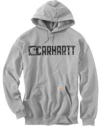 Carhartt   Graphic Block Logo Hoodie   Lyst