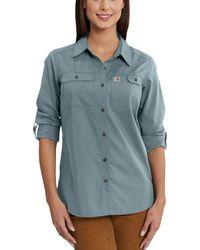 Carhartt - Force Ridgefield Button Down Long Sleeve Shirt - Lyst