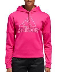 adidas - Team Issue Badge Of Sport Hoodie - Lyst
