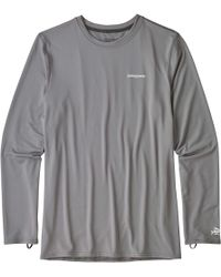d66460bbb68 Lyst - Patagonia R0 Sun Long-sleeve T-shirt in White for Men