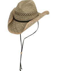 Dorfman Pacific - Raided Western Straw Hat - Lyst