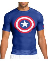 5ac5f581 Under Armour - Alter Ego Captain America Compression T-shirt - Lyst