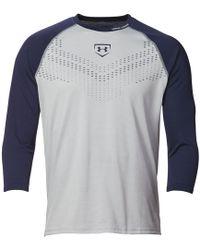 Under Armour - Heater 3⁄4 Sleeve Baseball Shirt - Lyst