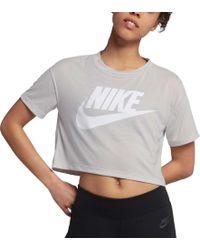 Nike - Essential Cropped T-shirt - Lyst
