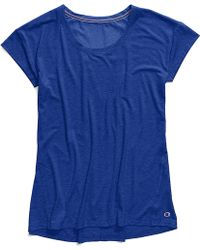 224c8565815 Lyst - Champion Plus Size Gym Issue Mesh-inset T-shirt in Blue