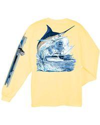 76f87191441ee Guy Harvey - Marlin Boat Long Sleeve T-shirt - Lyst