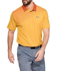 089860ba9d Under Armour Playoff Super Stripe Golf Polo in Pink for Men - Lyst