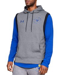 Under Armour - Project Rock Double Knit Sleeveless Hoodie - Lyst