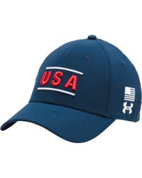 1e8a63bf909 Lyst - Forever 21 Usa Snapback Hat in Red for Men