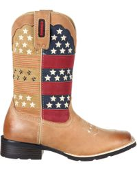 Durango - Mustang Pull-on Patriotic Western Boots - Lyst