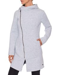 8c0b4a1784c1d Lyst - Ashley Stewart Fleece Tie Waist Coat in Natural