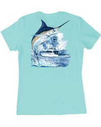 Guy Harvey - Marlin Boat T-shirt - Lyst