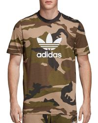brand new 925f9 8ace4 adidas - Originals Camo Trefoil T-shirt - Lyst