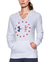 Under Armour - Freedom Logo Favorite Fleece Hoodie - Lyst