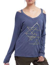 Zobha - Jocelyn Layering Long Sleeve T-shirt - Lyst