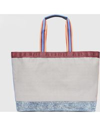 DIESEL - Shopping Bag In Coloured Canvas - Lyst