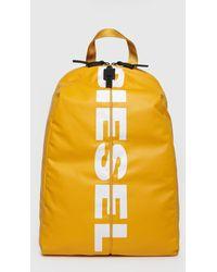 8e4e020762 DIESEL - F-bold Back Honey Yellow Backpack - Lyst