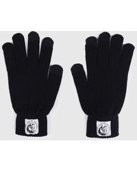 DIESEL - Gloves With Mohawk Patch In The Cuff - Lyst