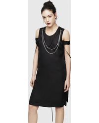 DIESEL - Midi Dress With Chain Necklace - Lyst