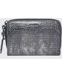 DIESEL - Compact Wallet In Crackled Leather - Lyst