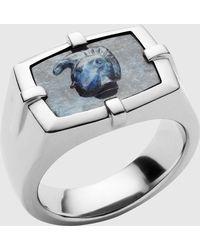DIESEL - African Blue Stone Ring - Lyst