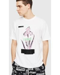 DIESEL - Regular T-shirt With Fluo Lettering - Lyst