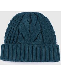 DIESEL - Knitted Hat With Ribbed Turn-up - Lyst