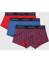 DIESEL - 3 Pack Trunks With Print In Solid Colour - Lyst