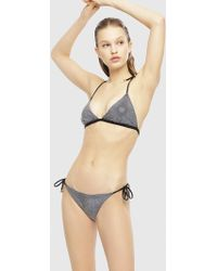 88ef1a5d5b DIESEL - Triangle Bikini With All-over Crystals - Lyst