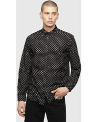 DIESEL - Spotted Shirt - Lyst