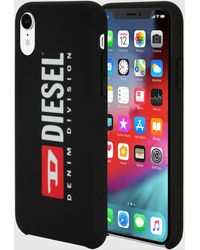 DIESEL - Logo Black Case, Iphone Xr - Lyst