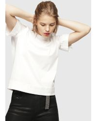 b4e70dff0f Lyst - ASOS Mesh T-shirt In Hyper Animal With Contrast Seams