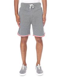 DIESEL - Tie Waist Sweat Shorts - Lyst