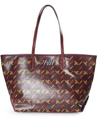 cfca8b8990 Vivienne Westwood Colette Small Shopper 41010017 Burgundy in Red - Lyst