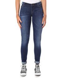 Armani Jeans - Mid Wash Push Up Skinny Jean - Lyst