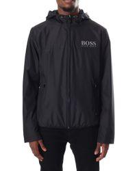 BOSS Green - Men's Jeltech Water Resistant Regular Fit Jacket Black - Lyst