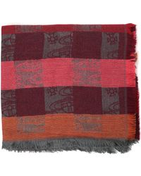 Vivienne Westwood - Big Colombina Women's Orb Check Scarf Oxblood - Lyst
