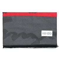 KENZO - Women's Multi Icon Scarf Medium Red - Lyst