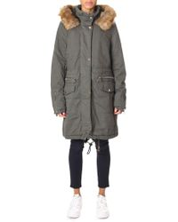 Rino & Pelle - Women's Leevy Parka With Fur Hood Olive - Lyst