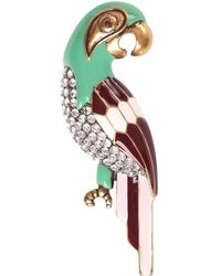 Marc Jacobs - Women's Parrot Brooch Green Multi - Lyst