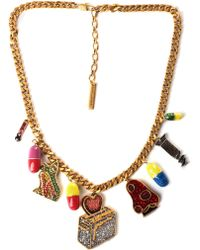 Marc Jacobs - Toast My Heart Women's Charm Necklace Pink - Lyst