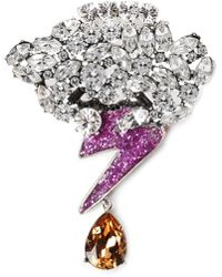 Marc Jacobs - Strass Cloud And Bolt Women's Brooch Purple Multi - Lyst