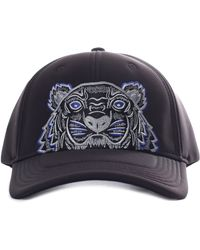 11544f7fc9f KENZO Lotus Eye Print Fitted Cap in Black for Men - Lyst