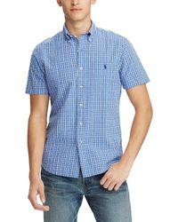 Polo Ralph Lauren - Plaid Seersucker Short-sleeve Woven Shirt - Lyst