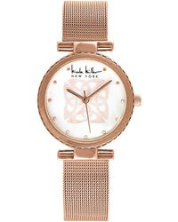 Nicole Miller - Logo Analog Mesh Bracelet Watch - Lyst