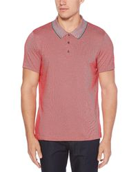 Perry Ellis - Big & Tall Diagonal Jacquard Short-sleeve Polo Shirt - Lyst