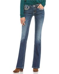 Vigoss - Dallas Lurex Thick Stitch Bootcut Jeans - Lyst